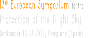 XIII European Symposium for the Protection of the Night Sky